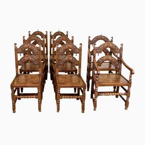 Antike viktorianische Esszimmerstühle, 8er Set