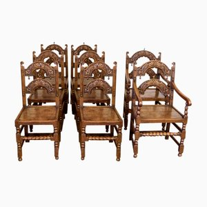 Antique Victorian Dining Chairs, Set of 8