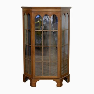 Antique Gothic Style Display Cabinet