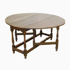 Table Gateleg Géorgienne Antique en Chêne