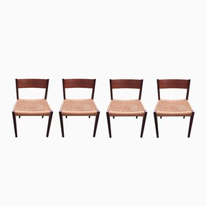 Dining Chairs by Poul Cadovius for Cado, 1960s, Set of 4