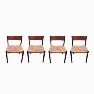 Esszimmerstühle von Poul Cadovius für Cado, 1960er, 4er Set