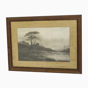 Impresión victoriana en blanco y negro