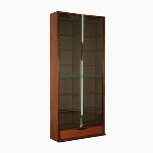 Italian Walnut Veneered Bookcase by Carlo Scarpa for Bernini, 1980s