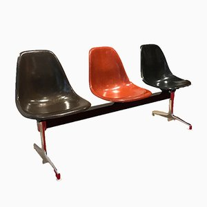 Vintage Fiberglas Bench by Charles & Ray Eames for Vitra