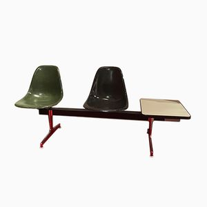 Vintage Fiberglass Bench by Charles & Ray Eames for Vitra