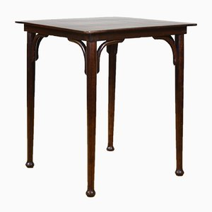 Table de Bistrot Carrée en Bois Courbé de Jacob & Josef Kohn, 1900s