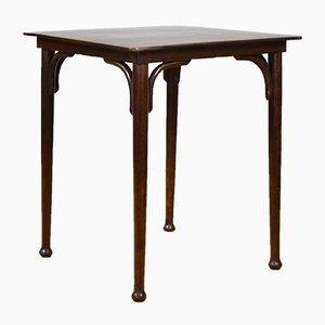Tavolo da bistrò quadrato in legno curvato di Jacob & Josef Kohn, inizio XX secolo