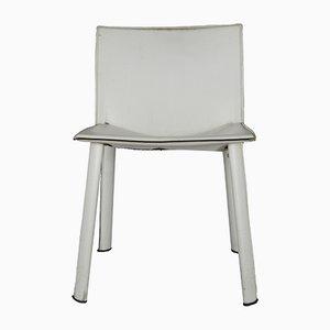 Sedia in pelle bianca di Poltrona Frau, anni '80