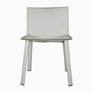 White Leather Chair from Poltrona Frau, 1980s