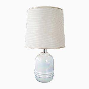 Lámpara con base de cerámica color perla, años 70