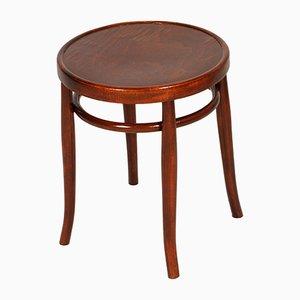Tavolino da caffè rotondo vintage in legno curvato di Thonet, anni '20