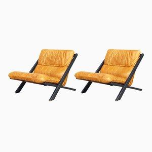 Schweizer Sessel von Ueli Berger für de Sede, 1970er, 2er Set