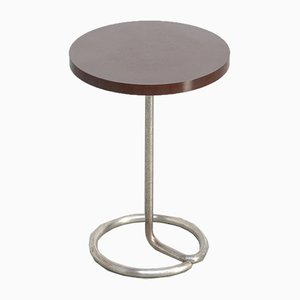 Circular Vintage Modernist Side Table by René Herbst for Stablet