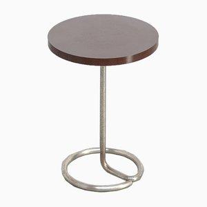 Mesa auxiliar moderna vintage circular de René Herbst para Stablet