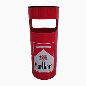Vintage Marlboro Bin or Standing Ashtray, 1980s