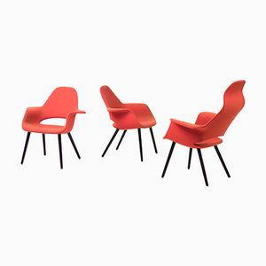 Organic Chairs by Charles Eames & Eero Saarinen for Vitra, 1990s, Set of 3