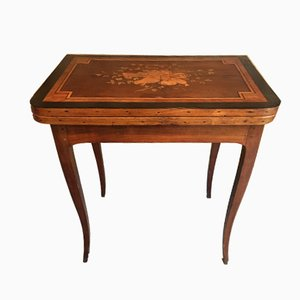 Antique Louis XV Game Table with Inlaid Decoration