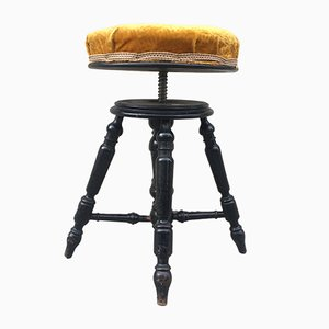 Antique Adjustable Piano Stool