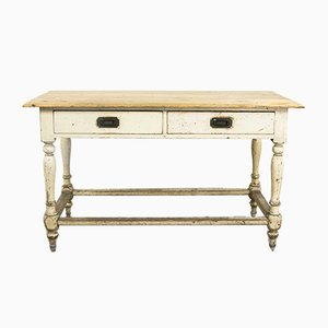 Table de Cuisine Victorienne Antique
