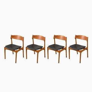 Chaises par Erik Buch pour O.D. Møbler, 1950s, Set de 4