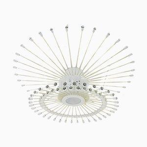 Lámpara de techo Sputnik gigante con 132 bombillas, años 50