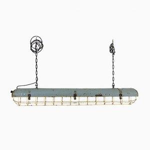 Lampe à Suspension Industrielle en Métal, 1950s