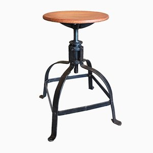 Industrial Stool from Bienaise, 1940s