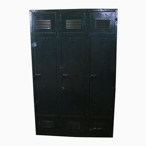 Mid-Century Industrial Metal Locker