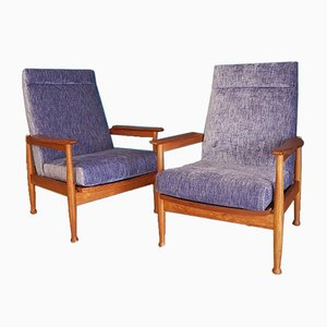Teak Reclining Manhattan Armchairs from Greaves & Thomas, 1960s, Set of 2