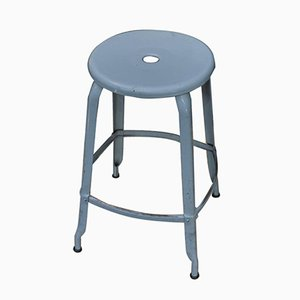 Riveted Metal Industrial Nicole Stool, 1950s