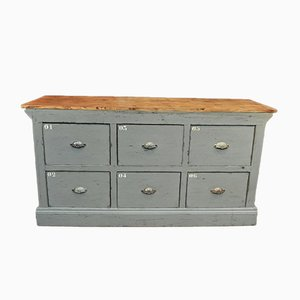Vintage Double Sided Counter or Cabinet, 1920s