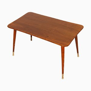 Mid-Century Italian Walnut Coffee Table, 1940s