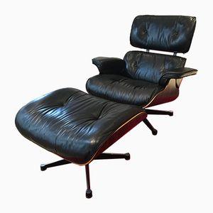 Sessel & Fußhocker von Charles & Ray Eames für Vitra, 1980er