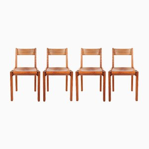 Mid-Century Model S24 Chairs by Pierre Chapo, Set of 4