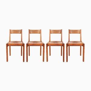 Mid-Century Modell S24 Stühle von Pierre Chapo, 4er Set