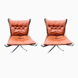 Falcon Stühle aus Stahl von Sigurd Ressell für Vatne Møbler, 1970er, 2er Set