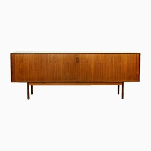 Scandinavian Modern Teak Tambour Door Credenza by Arne Vodder for Sibast, 1960s