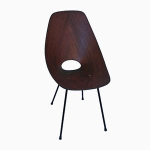 Vintage Teak Medea Chair by Vittorio Nobili for Fratelli Tagliabue, 1950s