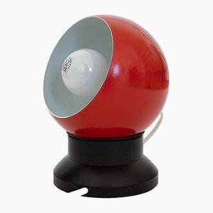 Lámpara era espacial en rojo con burbujas de ES Horn Belysning, años 60
