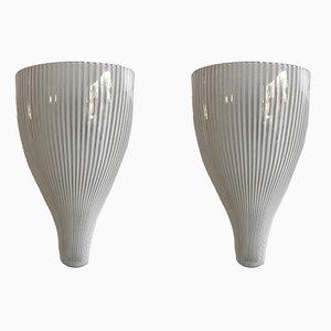 Lampade da parete di Massimo Vigneli per Venini, anni '50, set di 2
