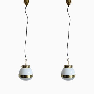 Delta Pendants by Sergio Mazza for Artemide, 1960s, Set of 2