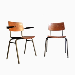 Chaises de Bureau Industrielles, 1950s, Set de 2