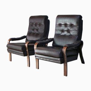Mid-Century Danish Lounge Chairs, 1970s, Set of 2