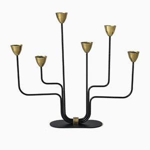 Kerzenhalter aus Metall und Messing von Gunnar Ander für Ystad-metall, 1950er