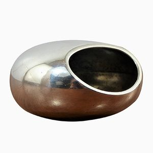 Small Chrome Pebble Ashtray by Roger Tallon for Ravinet, 1970s