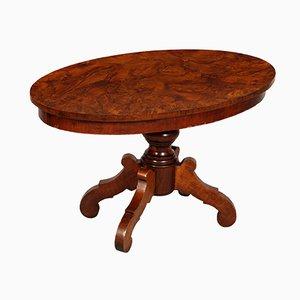 Tavolino da caffè ovale Art Déco in noce, anni '30