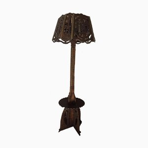 Vintage Carved Floor Lamp