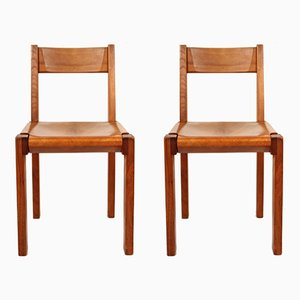 Mid-Century Model S24 Chairs by Pierre Chapo, Set of 2
