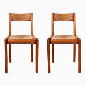 Mid-Century Modell S24 Stühle von Pierre Chapo, 2er Set